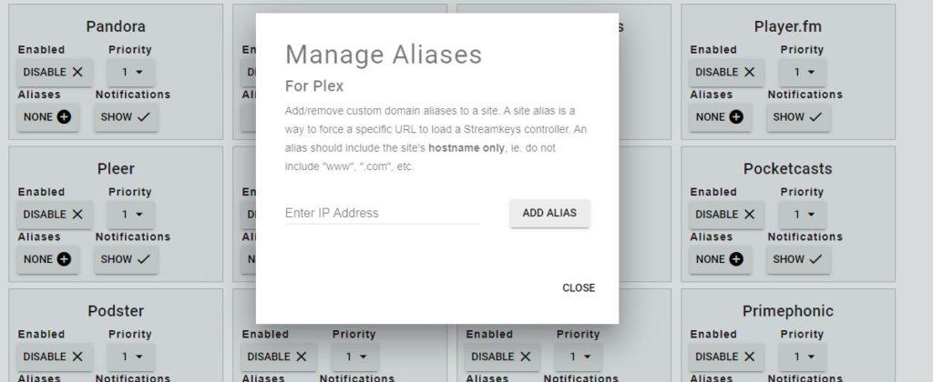 add aliases of current website