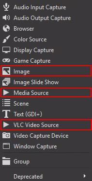 add new source OBS