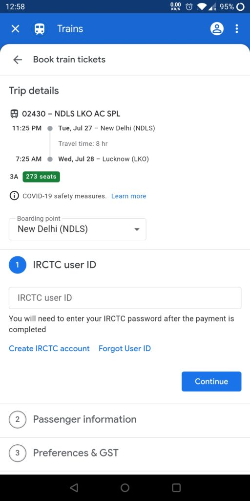 Google Pay Train Booking 1