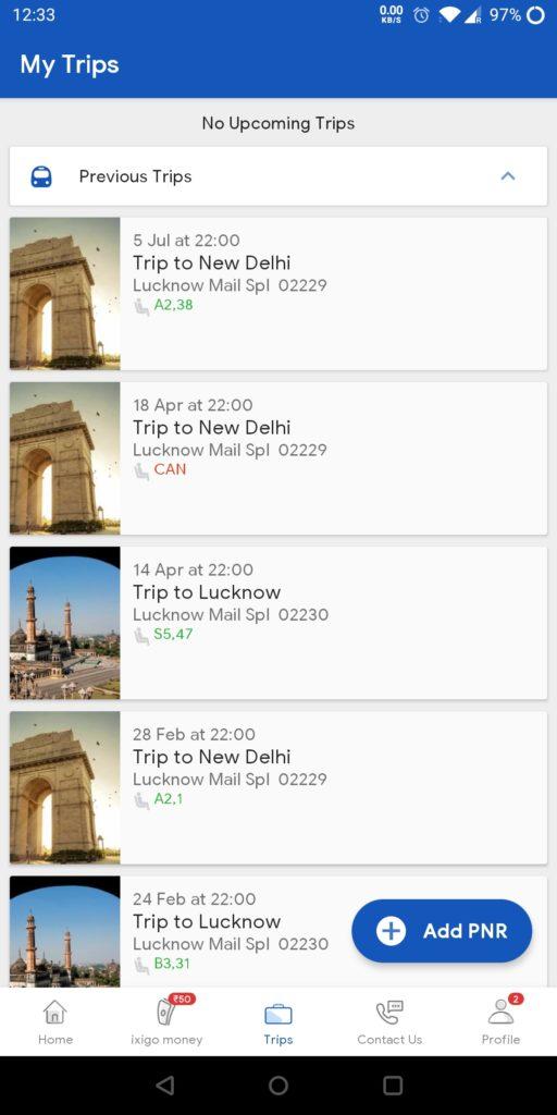 IXIGO Train Booking Screenshots 2