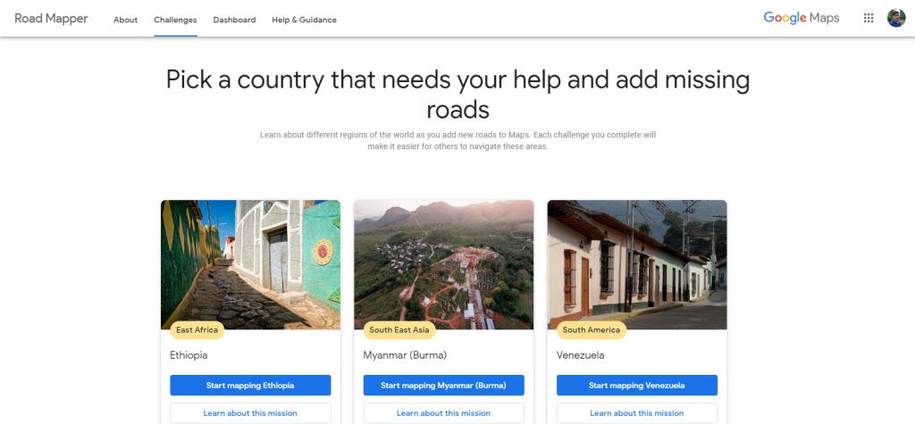 Google Road Mapper challenges