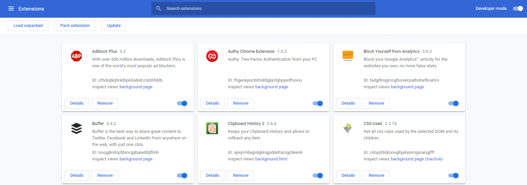 Install Chrome extensions Manually