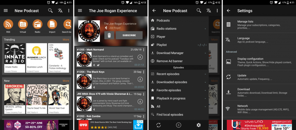Podcast Addict podcast app
