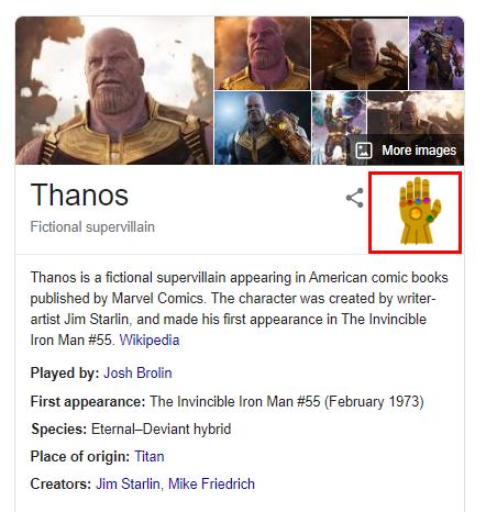 Thanos Google search trick