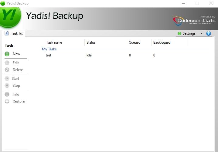 Yadis Backup folder sync