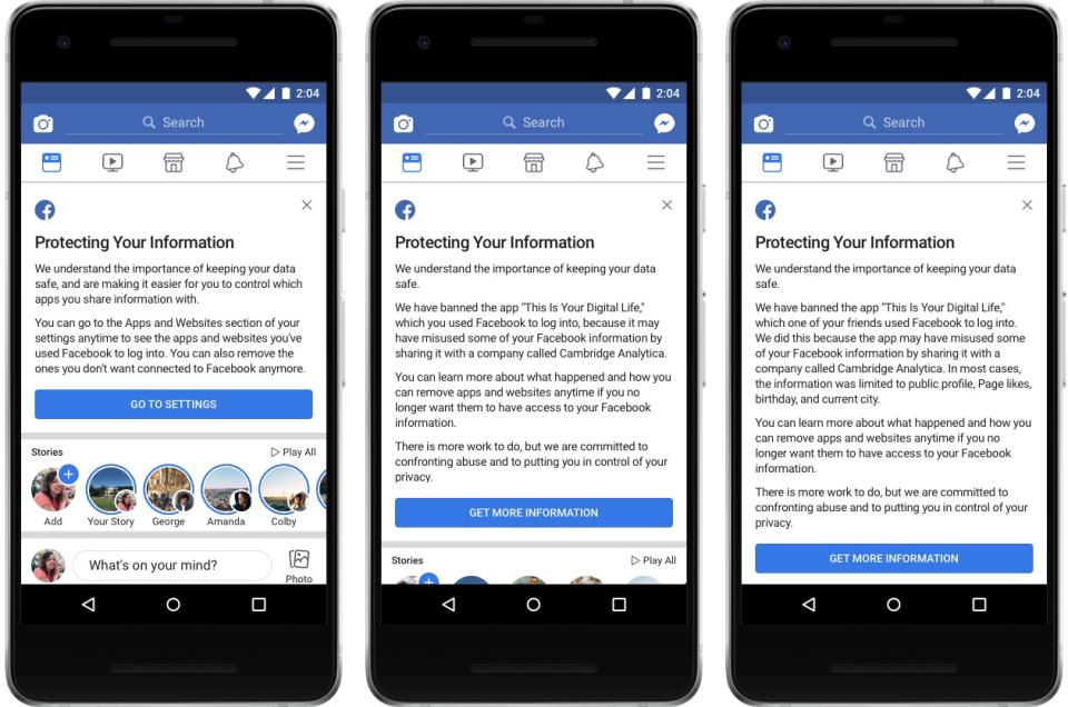 facebook app privacy notification