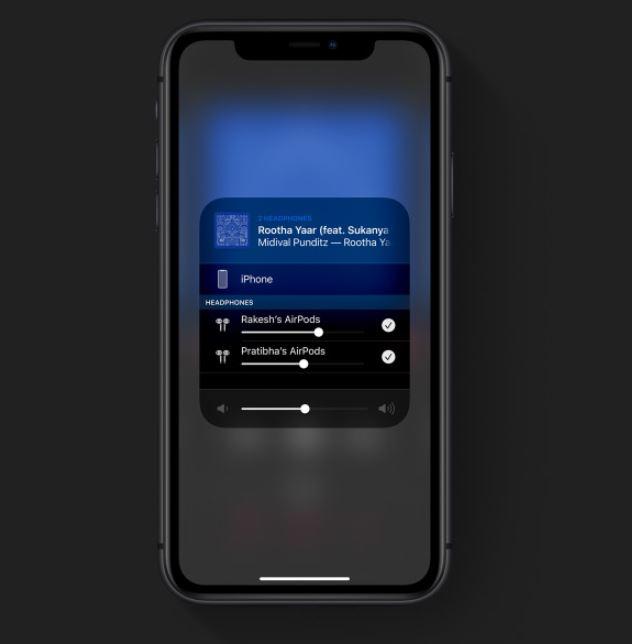 audio sharing in ios13