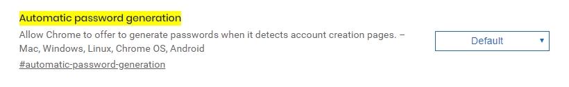 automatic password generation