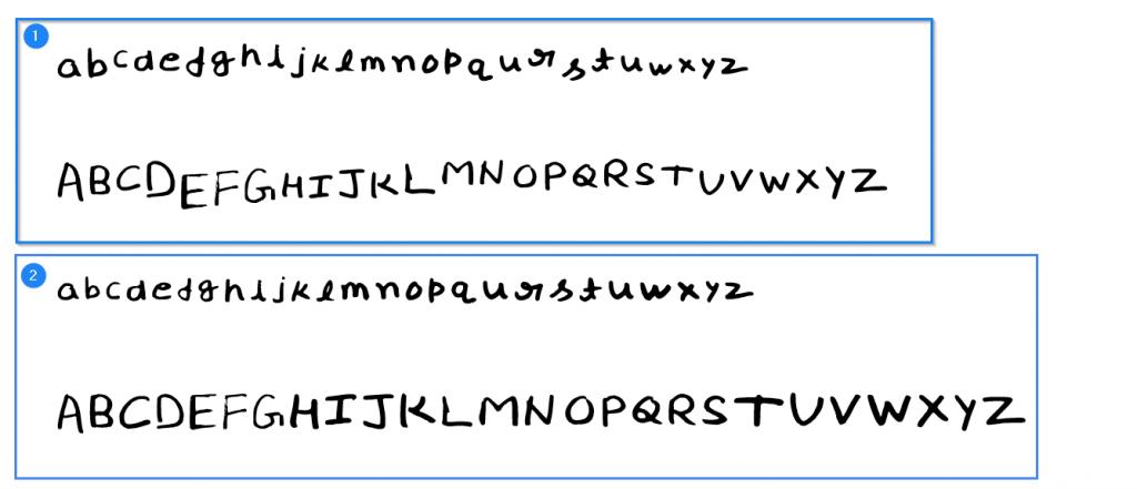 baseline adjusted font