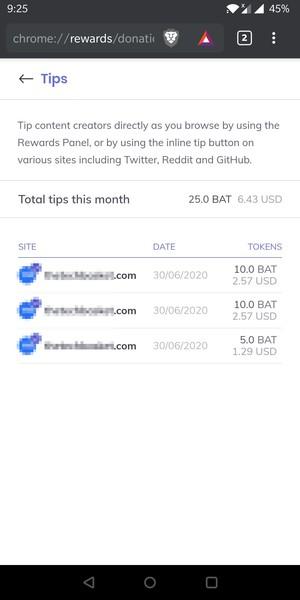 BAT donated
