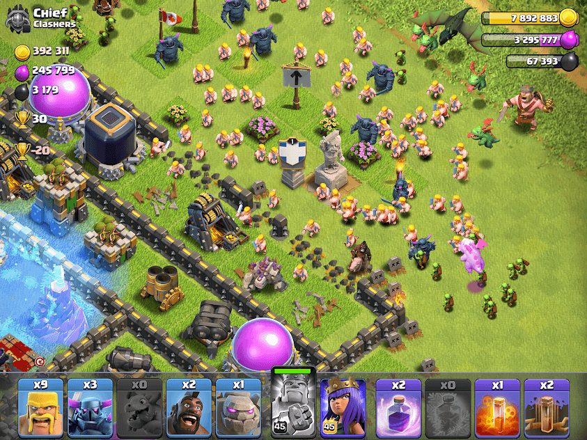 clash of clan in game scene