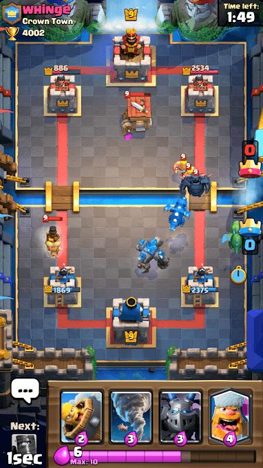 clash royal in game scene