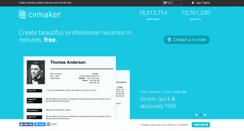 cvmaker create beautiful cv