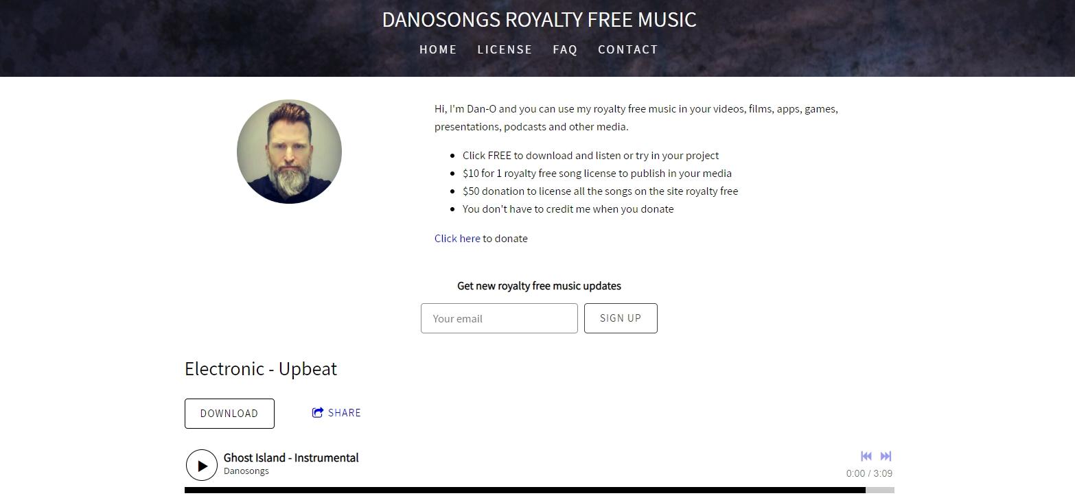 danosongs free to use music