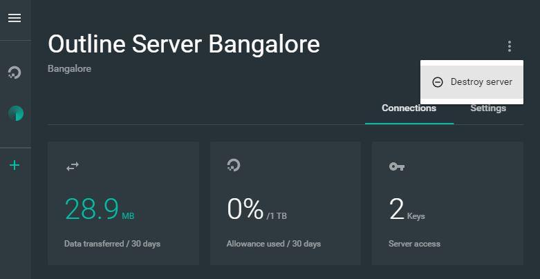 destroy server
