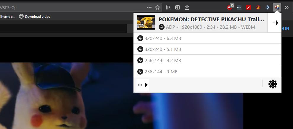 download YT video using firefox addon