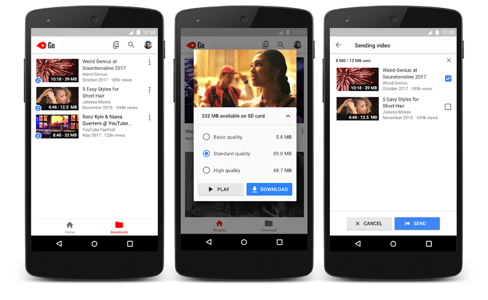 download and share youtube video using youtubego