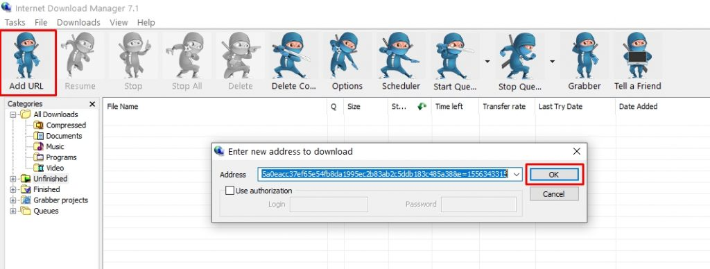 downloading torrent on IDM