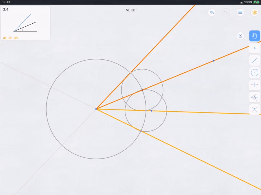 euclidea in game scene