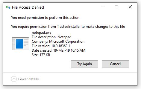 File Access Denied
