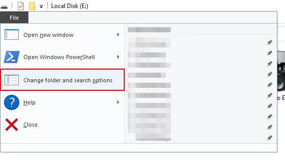 file folder option
