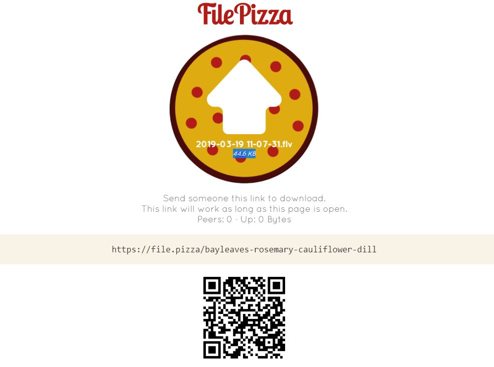 filepizza freal time file sharing
