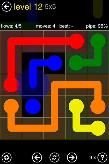 flow free in game scene