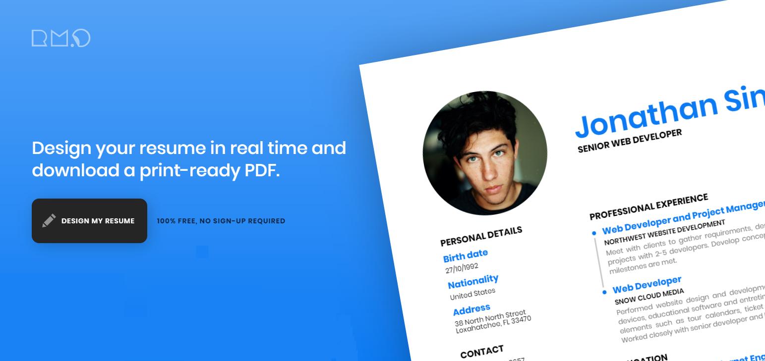 free resumemaker online website