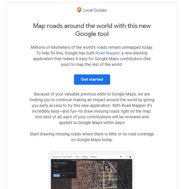 google road mapper early access