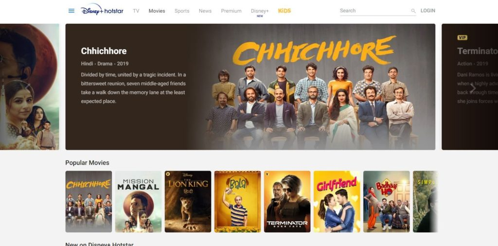 hotstar for movies