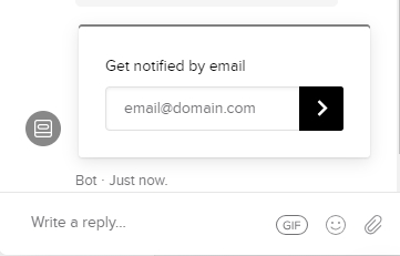 live chat get notified by email