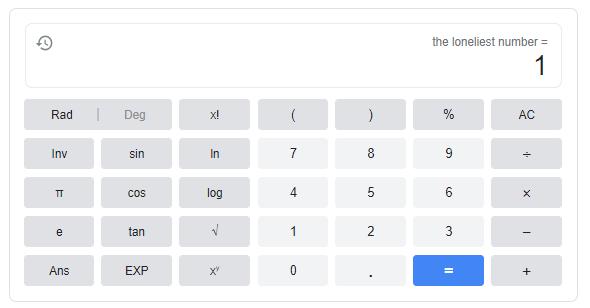 loneliest number trick