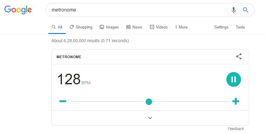 metronome in google