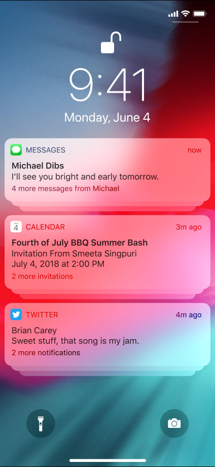 ios 12 notification grouping
