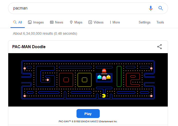 PACMAN search