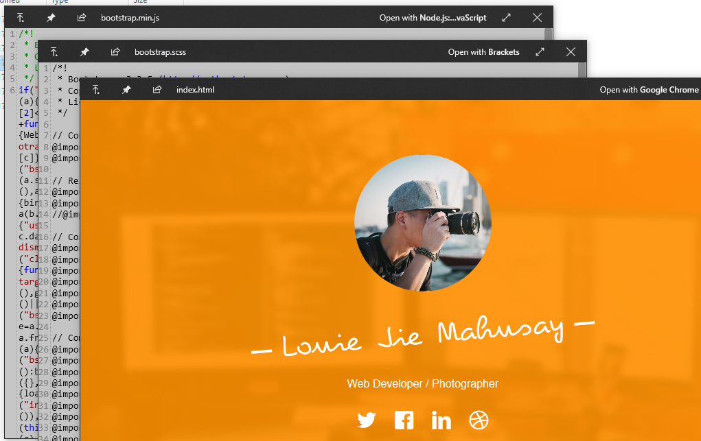 quicklook preview js css html