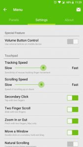 remote mouse app settings