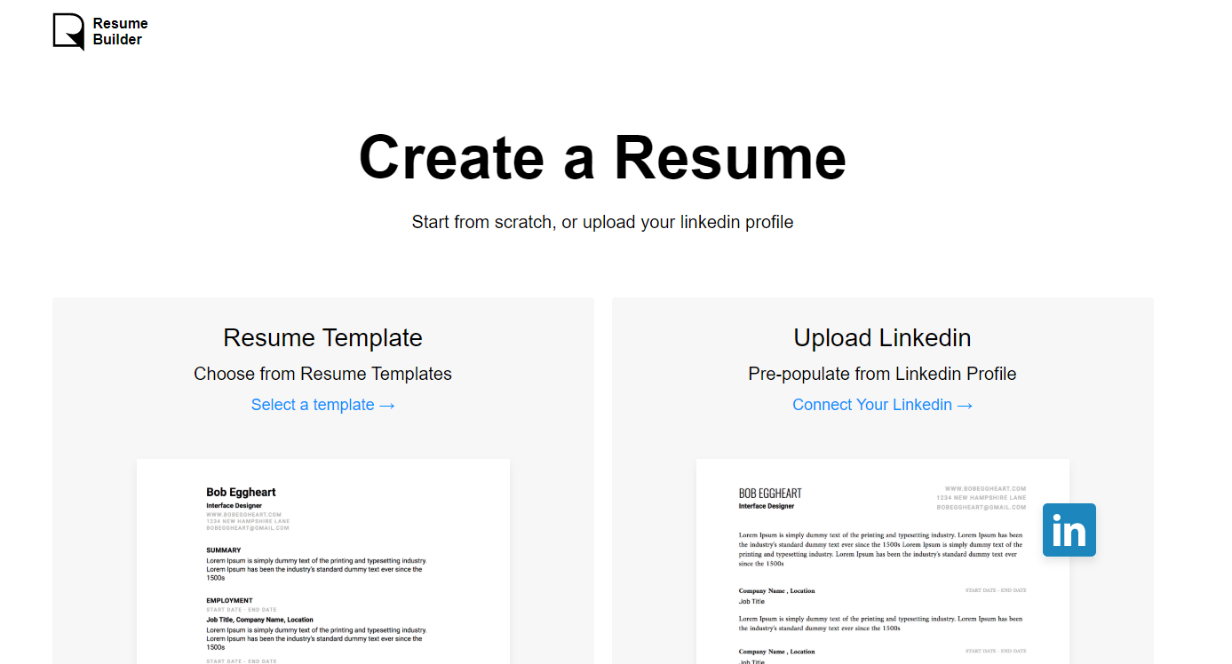 resumes io resume builder