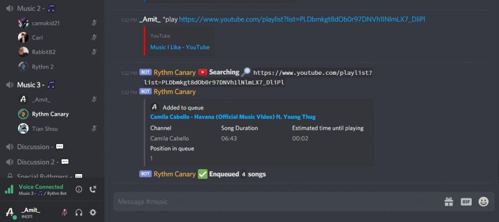 rythm add playlist