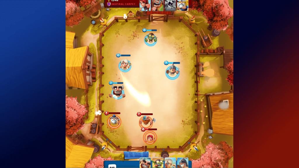 smashing four in game scene