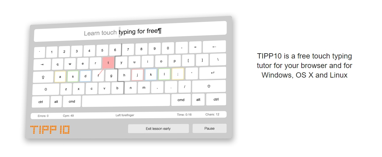 tipp10 typing software to learn typing