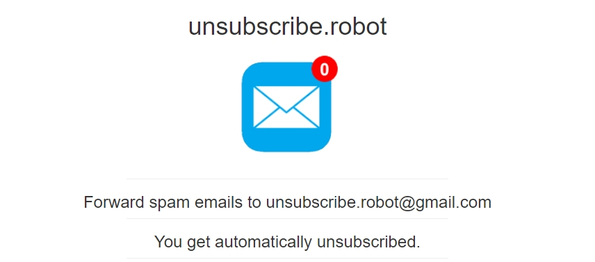 unsubscribe robot fir spam emails