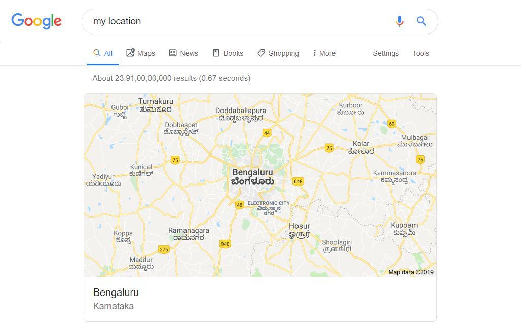 your vpn location